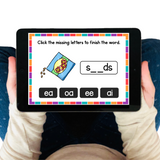 Free Long Vowel Digraphs Boom Cards