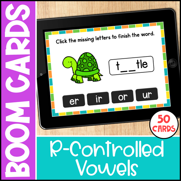 R-Controlled Vowels Boom Cards