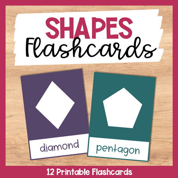 Shapes Flashcards - Bright Colors