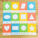Shapes Flashcards - Pastel Colors