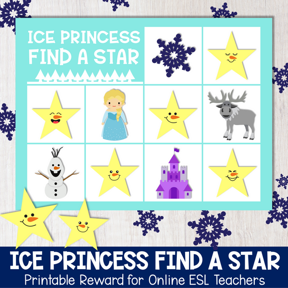 Ice Princess Find a Star Reward