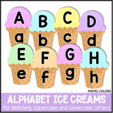 Alphabet Ice Creams - Pastel Colors