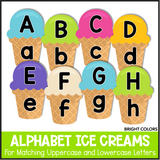 Alphabet Ice Creams - Bright Colors