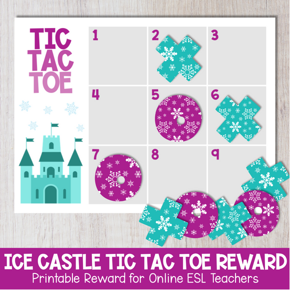 Ice Castle Tic Tac Toe Reward