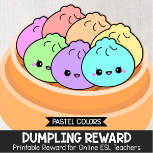 Dumpling Secondary Reward (Pastel Colors)