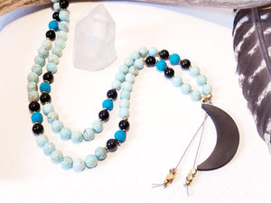 ARTEMIS | GODDESS OF THE MOON | MALA NECKLACE