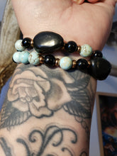 Load image into Gallery viewer, PANDORAS GIFT | SHUNGITE + HOWLITE | Stretch Bracelet