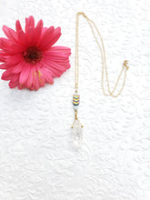 Load image into Gallery viewer, New Vibin' High Collection :: Clear Quartz + Hematite Power Necklace