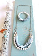 Load image into Gallery viewer, RECYCLED GLASS | SEASHELL + HOWLITE Stone | Bracelet | New