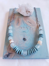Load image into Gallery viewer, RECYCLED SEA GLASS + HEISHI SHELL | Necklace