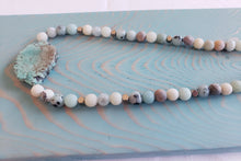 Load image into Gallery viewer, TURQUOISE | PYRITE + AMAZONITE | Beaded Necklace