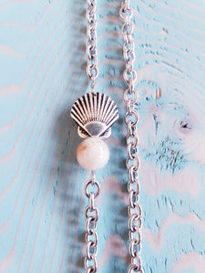 SUNSTONE CRYSTAL | MERMAID | Shell Necklace | New Set