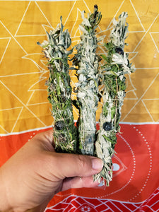 SMALL HERBAL SMOKE CLEANSING WANDS | CEREMONIAL HERBS