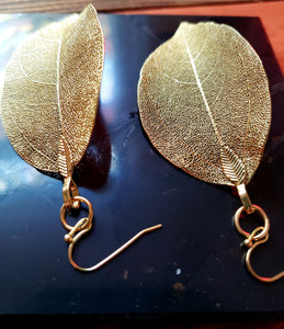 GOLDEN GAIA |EARTH GODDESS | LEAF  EARRINGS