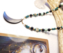Load image into Gallery viewer, SELKEST GODDESS | SHUNGITE MOON | Necklace Set