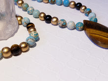 Load image into Gallery viewer, DIVINE VISIONARY | TIGERS EYE | OCEAN JASPER NECKLACE
