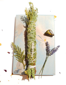 LARGE HERBAL SMOKE CLEANSING WANDS | CEREMONY HERBS