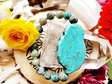 Load image into Gallery viewer, SOLD dm for your own CUSTOM African Turquoise Howlite Healing Gemstone Bracelet Beach Summer accessories Balance Prosperity Purpose Soul - Hvnly Boutique