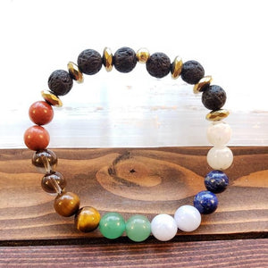 AAA quality gemstone mineral chakra balancing cleansing attuning mala bracelet essential oil divination tools meditation amulet alignment - Hvnly Boutique