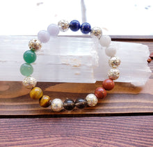 Load image into Gallery viewer, AAA quality gemstone mineral chakra balancing cleansing attuning mala bracelet essential oil divination tools meditation amulet alignment - Hvnly Boutique