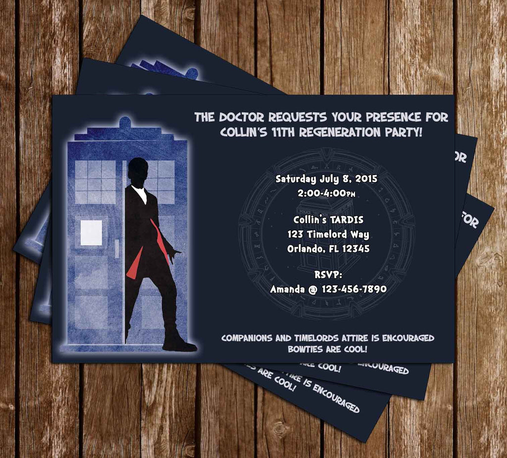 Doctor Who - 12th Doctor - Birthday Invitation