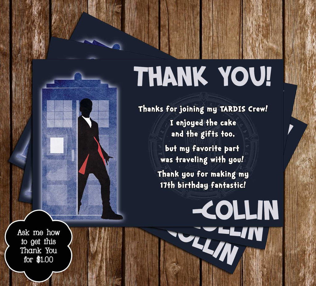 Novel Concept Designs 12th Doctor Who Birthday Thank You Card – Doctor Who Birthday Card