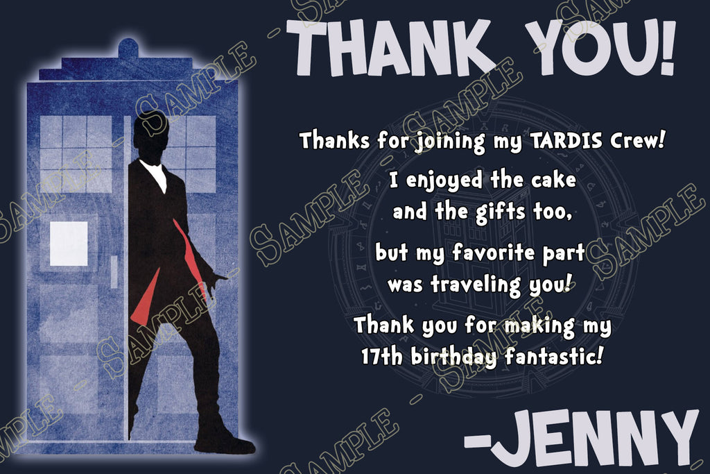 Novel Concept Designs 12th Doctor Who Birthday Thank You Card
