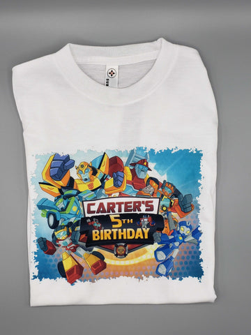 Rescue Bots - Transformers - Birthday - T-Shirt - Personalized