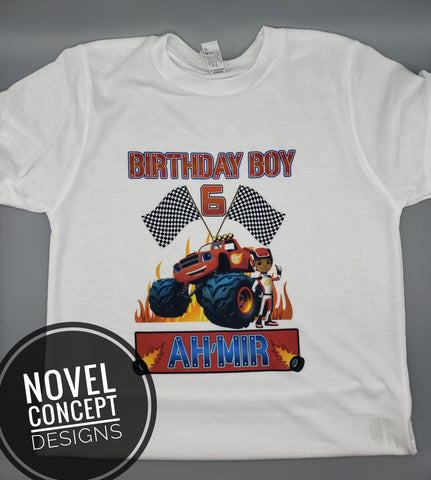 Blaze & the Monster Machines - Birthday - T-Shirt - Personalized