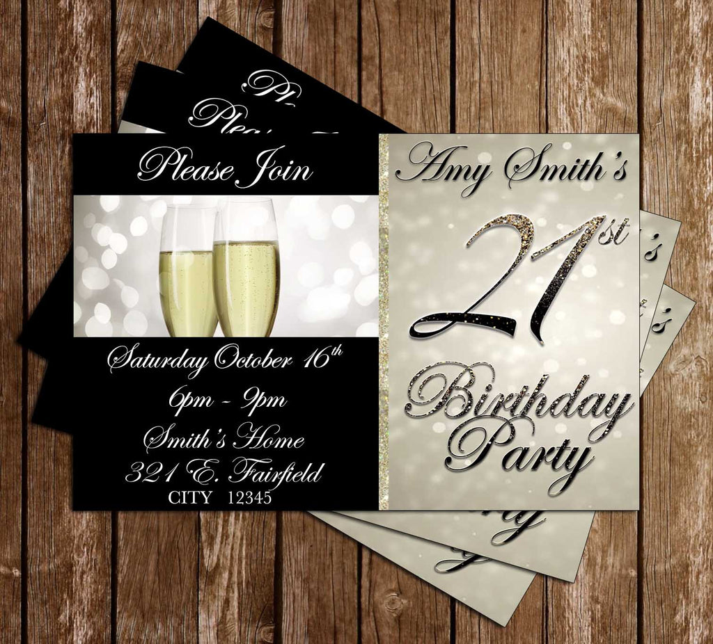 Novel Concept Designs - 21st Birthday - Birthday Party - Invitation