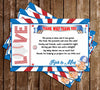 Baseball - Little Slugger - Baby Shower - Thank You Card