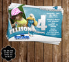Smurfette Birthday Party Invitation