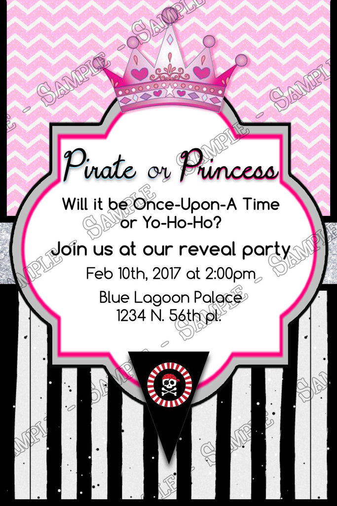 Novel Concept Designs - Pirate or Princess - Gender Reveal - Baby ...