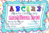 ABC - Alphabet - Birthday - Party - Invitation