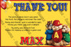 Alvin and the Chipmunks - Birthday Party - Thank You Card
