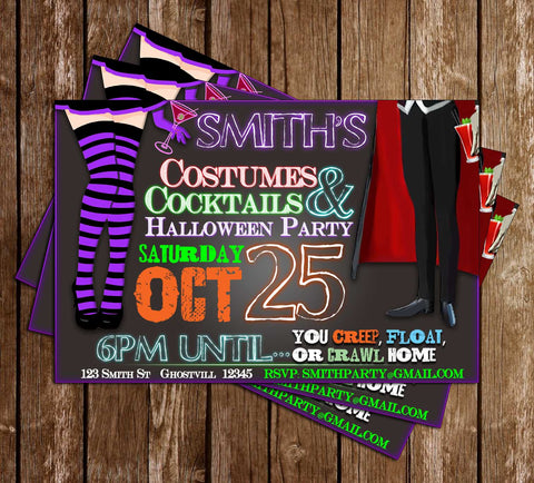 Adult Costume Party - Halloween - Party Invitation