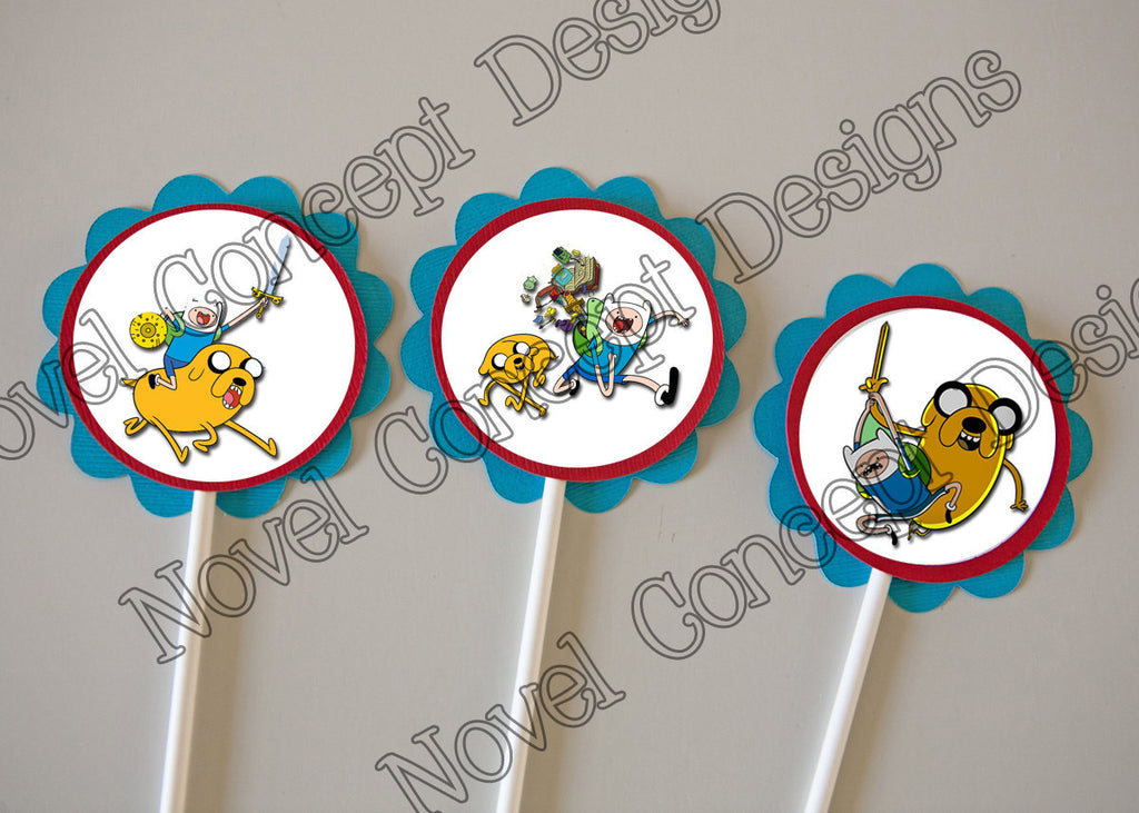 Free Adventure Time Birthday Cupcake Topper / Party Favor