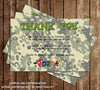 Airsoft / Paintball Action Birthday Party Invitation - DIGITAL FILE