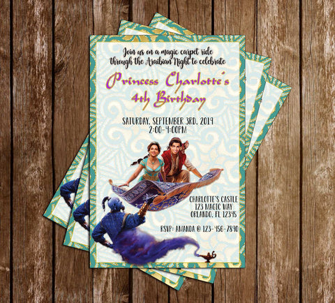 Aladdin - 2019 Movie - Birthday Invitation