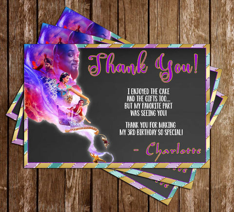 Aladdin - 2019 Movie - Birthday - Thank You Card