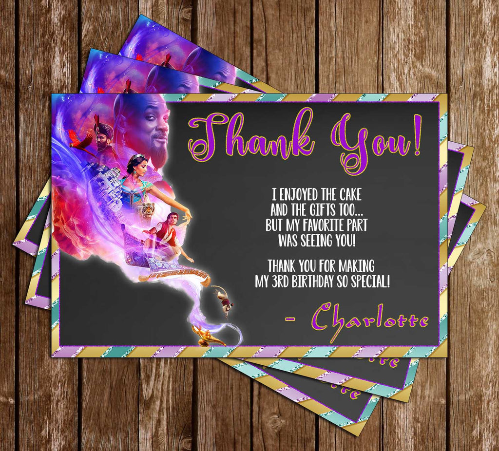 Disney - Aladdin - 2019 Movie - Birthday - Thank You Card