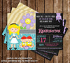Alice in Wonderland - Twins - Baby Shower Invitation - DIGITAL FILE