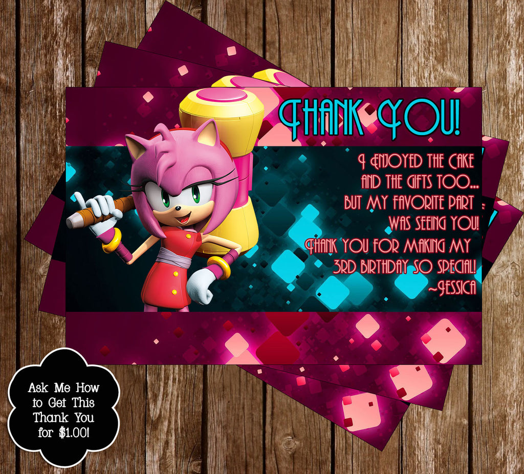 Amy Rose Thank You Card - DIGITAL FILE