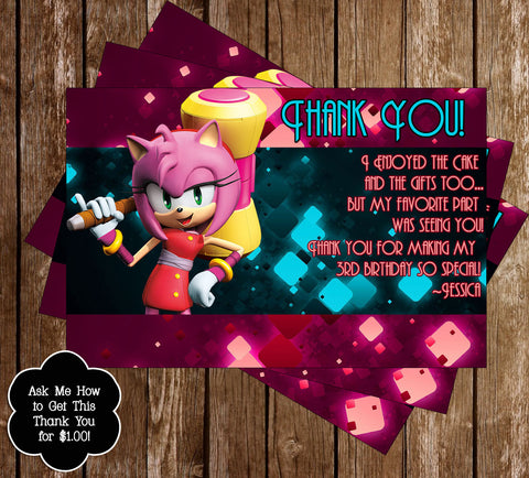 Amy Rose Thank You Card - PRINTED INVITATIONS