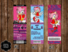 Amy Rose Birthday Party Ticket Invitation - DIGITAL FILE
