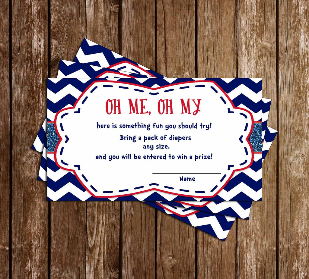 AHOY it's a BOY - Navy Sailor - Baby Shower - Diaper Raffle Tickets