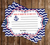 AHOY it's a BOY - Navy Sailor - Baby Shower Words of Wisdom