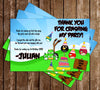 Angry Birds Angry Pigs Inspired Birthday Thank You Card