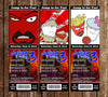 Aqua Team Hunger Force Birthday Party Ticket Invitations