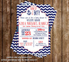 AHOY it's a BOY - Navy Sailor - Baby Shower - Bring A Book Insert
